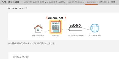 au one netの画像